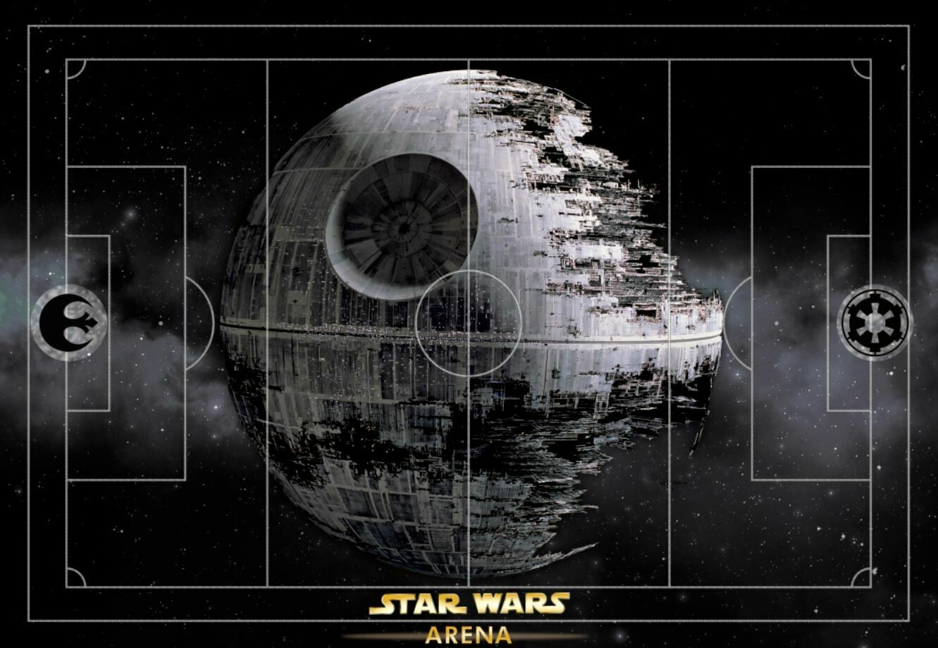 Star Wars Subbuteo Football Pitch RUBBER 57X39 INCHES