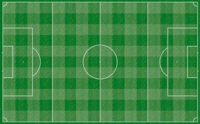 Subbuteo Checkered Pitch rubber subbuteo pitch 115 x 77 cm  .