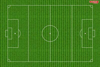 Tiny Soccer Pitch Velour 1260 x 850mm