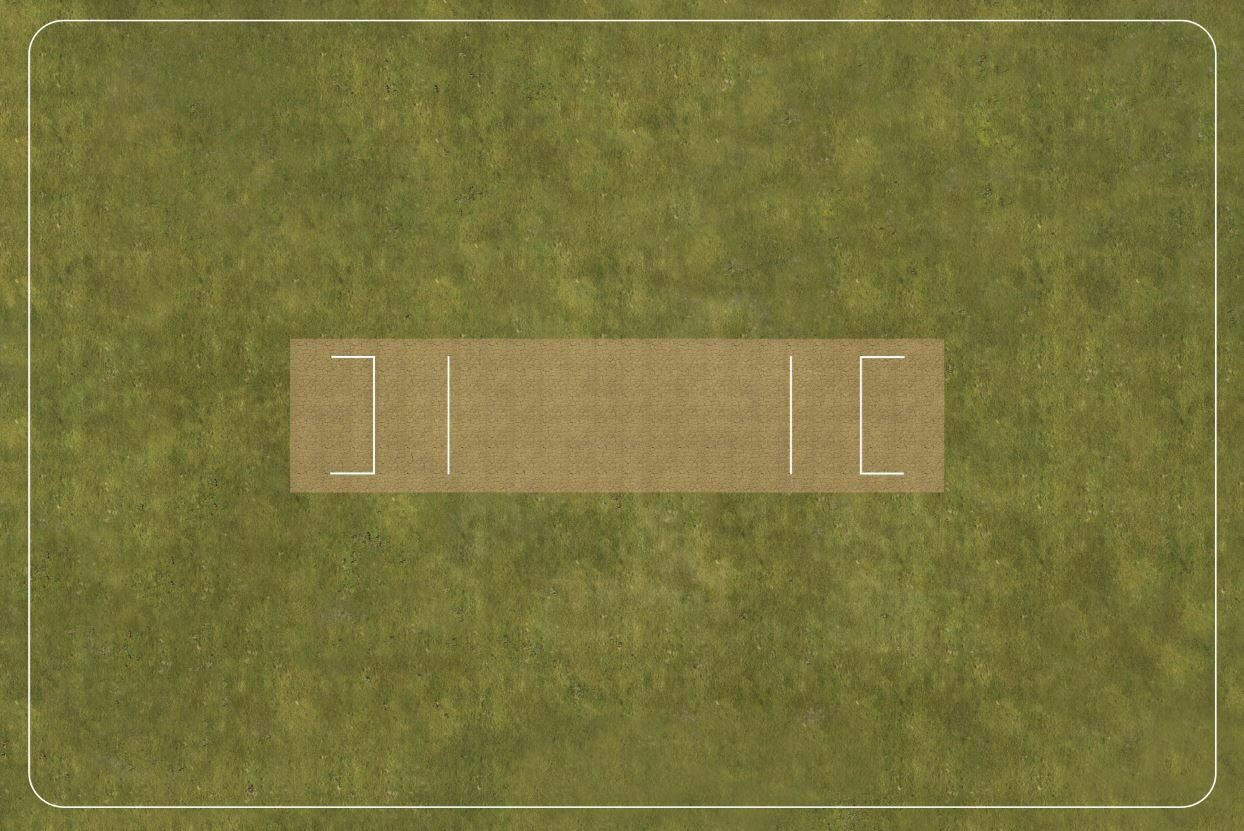 Cricket Pitch Velour 1300x870mm