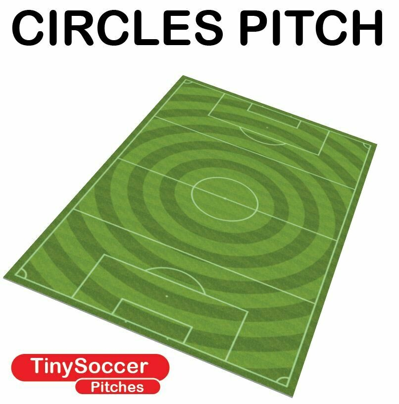 Subbuteo type velour circle grass pitch