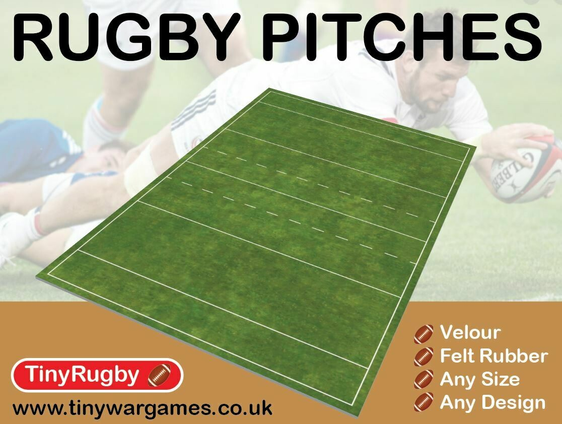 Subbuteo type rugby pitch 46x30 inch playing area