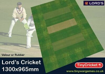 The Lords Cricket Pitch 1300 x965mm velour