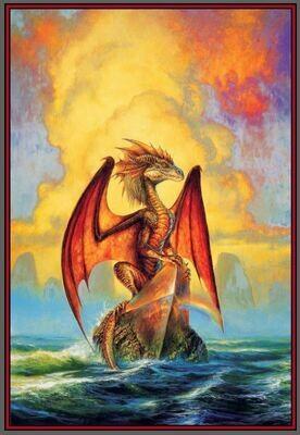 Fantasy Art 841x576 mm cotton wall hanging dragon