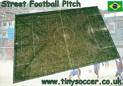 Brazil Street Photo Realistic Football Pitch velour 800 x 533mm
