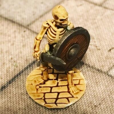 3D Printed Skeletons X10 28mm
