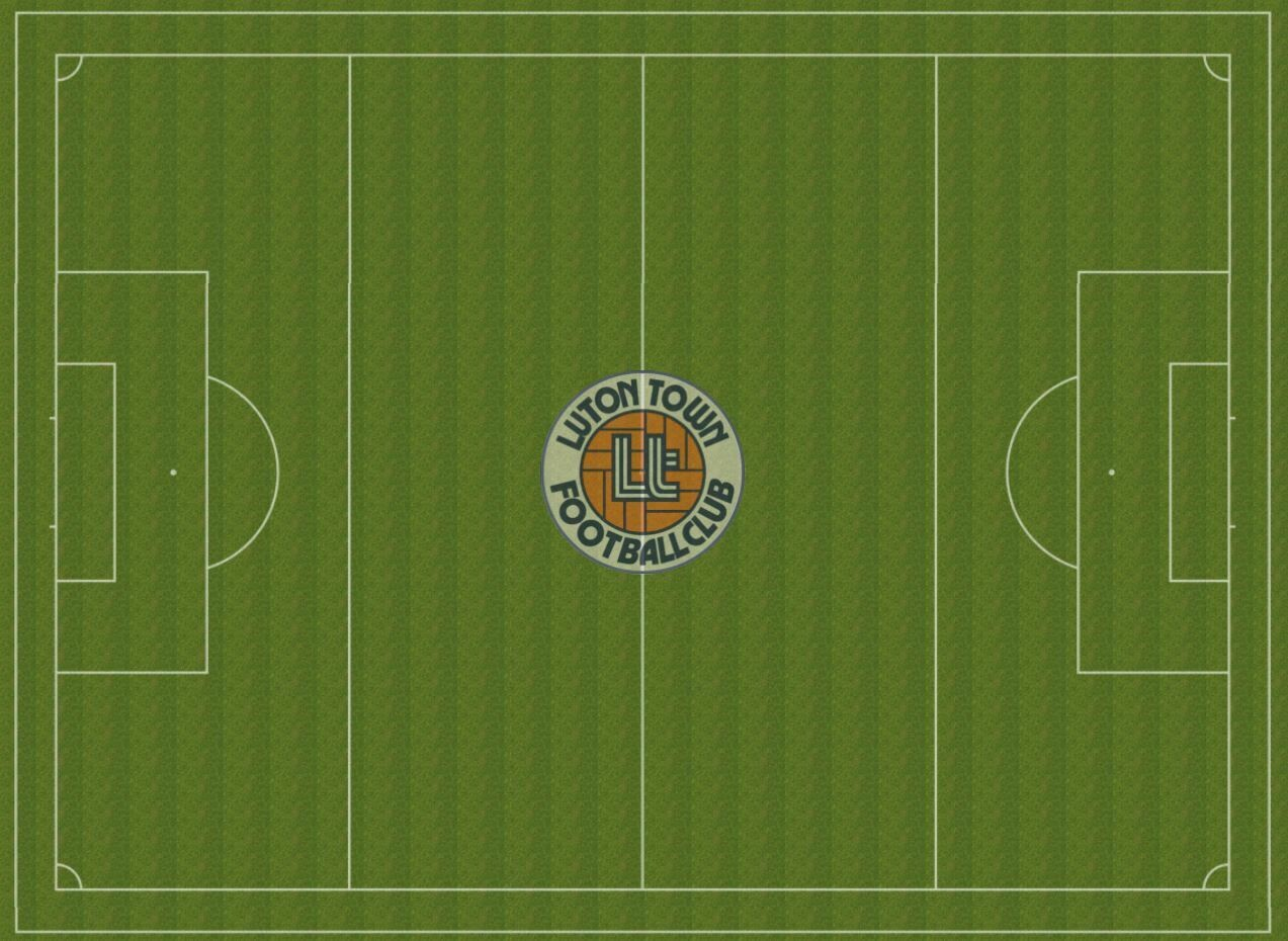 Luton Town rubber pitch 1120x690mm