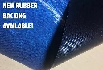 Rubber mat 60x40cm with 5cm grid grass