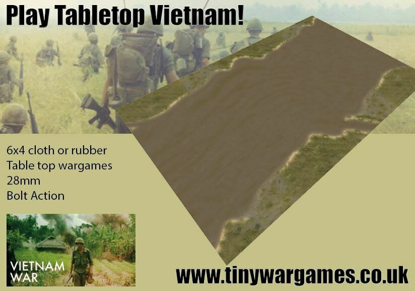 Vietnam Wide River 6x4 cloth