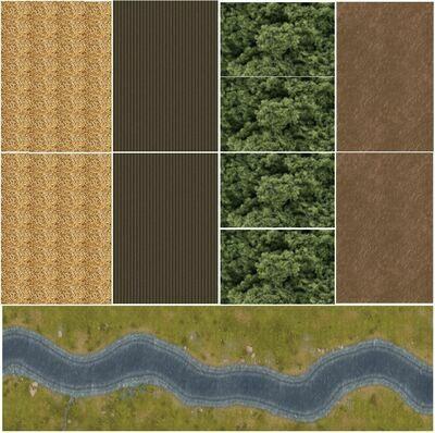 Tiny Terrain 001 3x3 leatherette