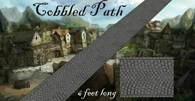Cobbled road 28mm 1830 x 60mm strip leatherette (path)