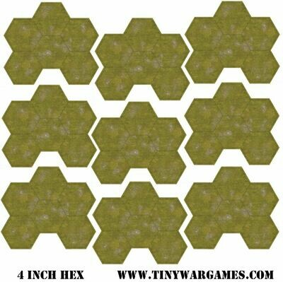 Hex System 4 inch grass hex leatherette 3x3