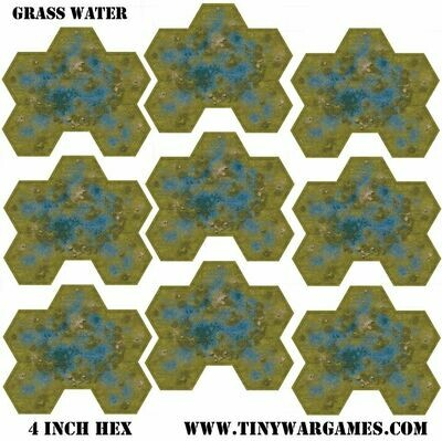 Hex System 4 inch grass water hex leatherette 3x3