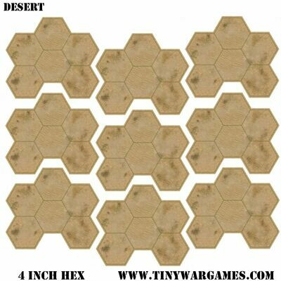 Hex System 4 inch gdeserthex leatherette 3x3 feet