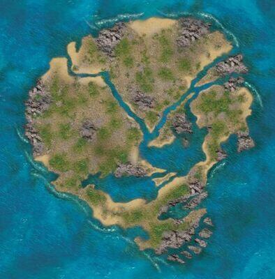 Skull island 3x3 cloth