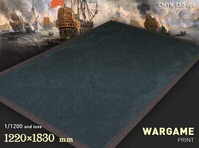 "The Battlemat (051s) ""Sea plain"". 1/1200 and less 6x4 cloth"