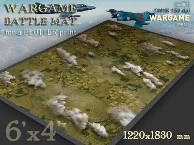 Aerial Battlemat (am001) Cold War 6x4 cloth