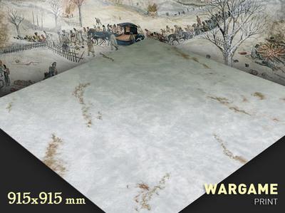 Snow  3x3 mat
