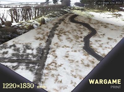 SS01a 6x4 feet snow,cobbles,river cloth