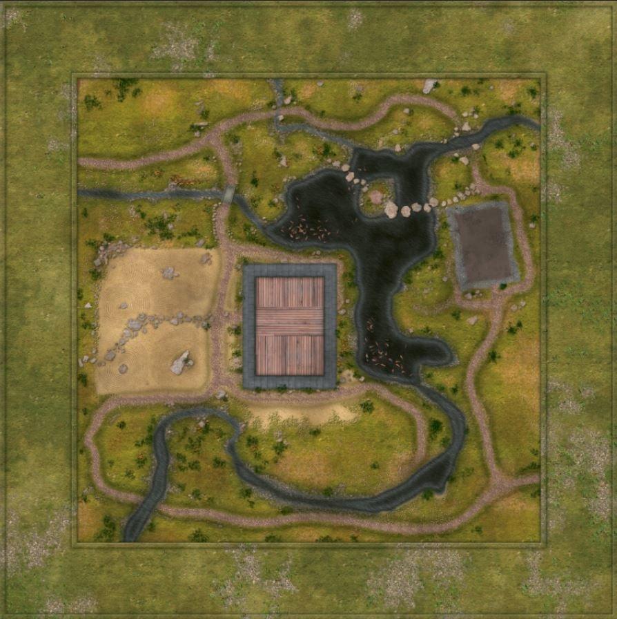 Samurai Green 4x4 with 3x3 feet playing area