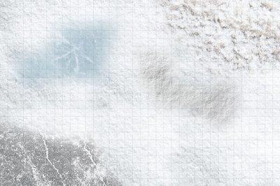 3x2 feet snow grid cloth