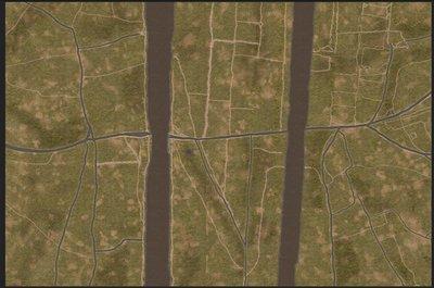 6mm Pegasus Bridge 6x4 gaming cloth