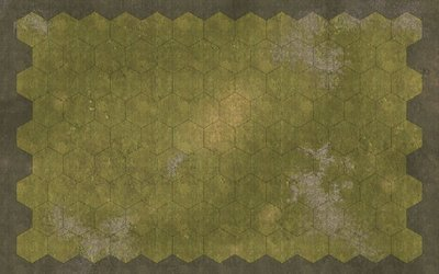 Commands and Colors 3 inch hex cloth