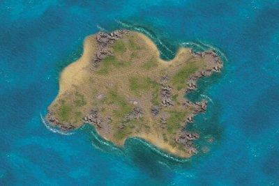 Desert island 6x4 cloth
