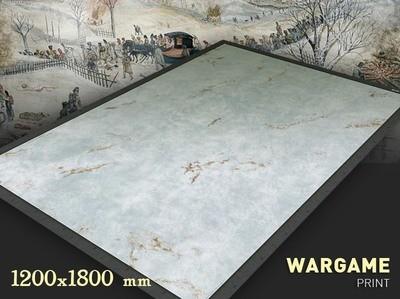 Snow  6 x 4 feet mat cloth