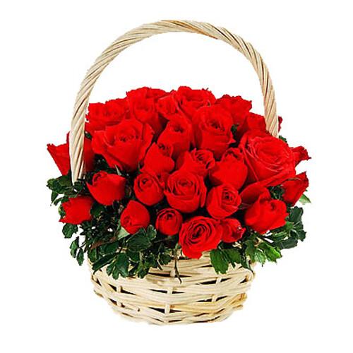 Red Roses Basket