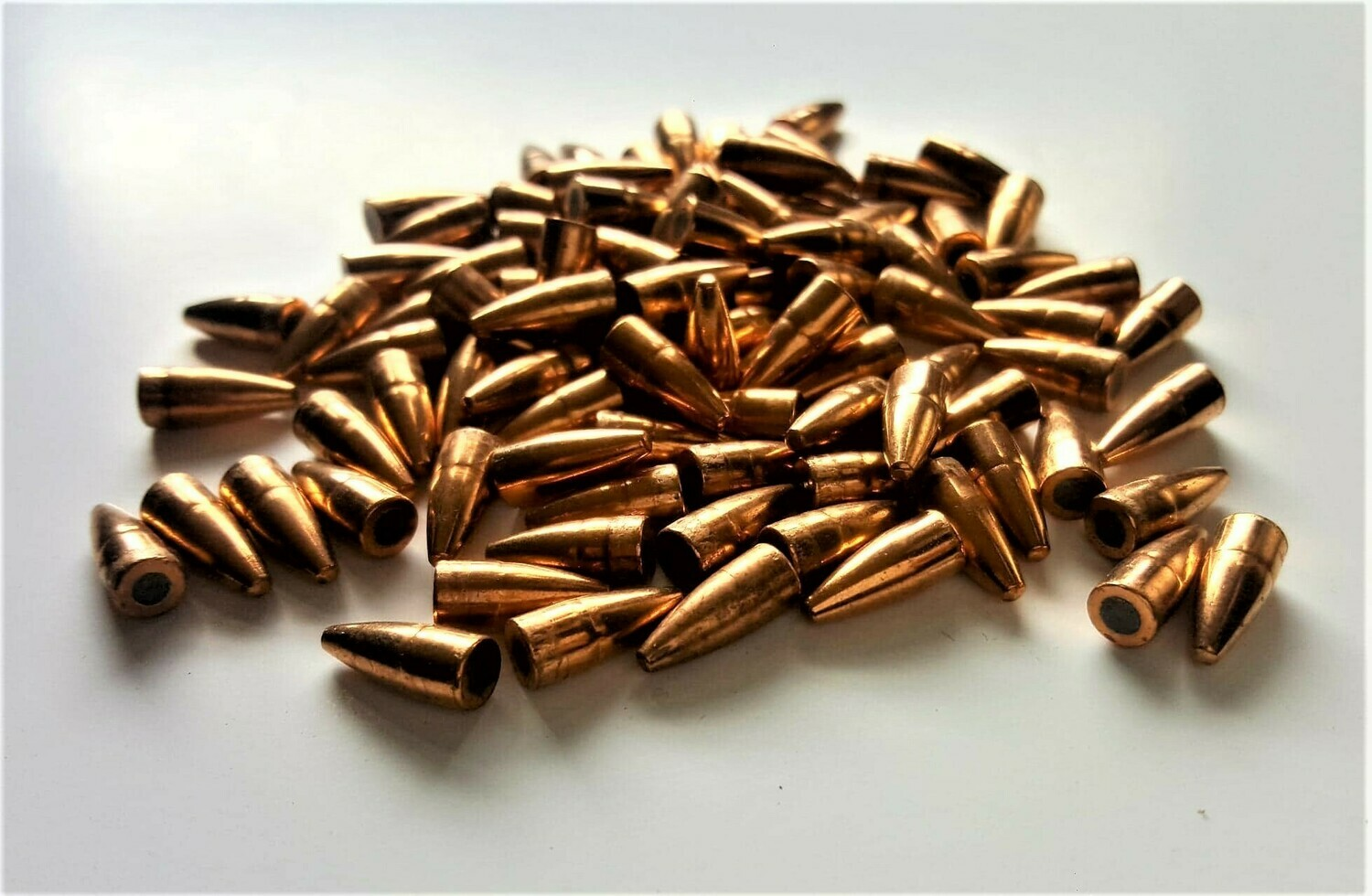100-PULLED 40gr FMJ Exposed Core Bullets .224 Cal