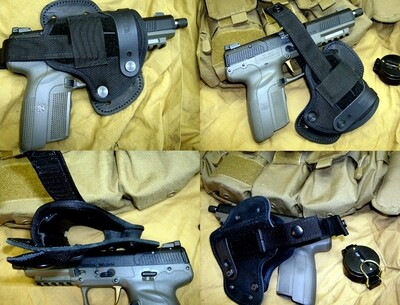 EA Left Hand Five Seven MKII OWB Hybrid Leather & Ballistic Nylon Holster