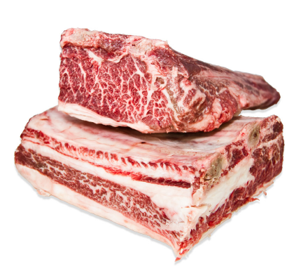 USDA PRIME GRADE BONE IN SHORT RIBS - $4.70 PER 100 GMS