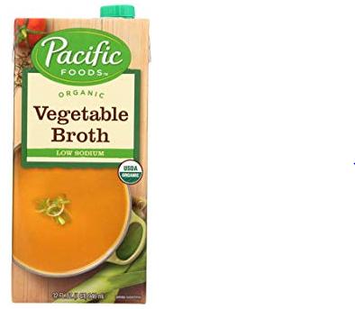 ORGANIC FOODS VEGETABLE BROTH LOW SODIUM