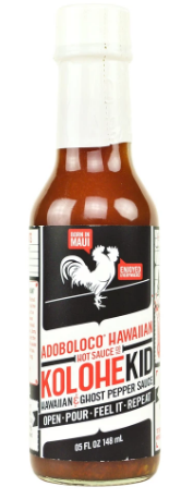 KOLOHEKID HAWAIAN GHOST PEPPER SAUCE - HOT