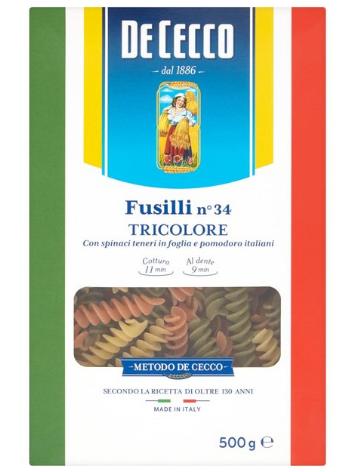 DECECCO FUSILI TRICOLORE N°34, 500G