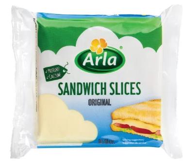 ARLA SANDWICH SLICED CHEESE 10 SLICES 200GM