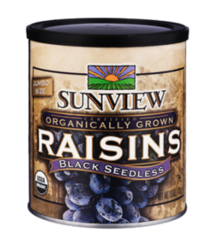 SUNVIEW ORGANIC BLACK RAISINS