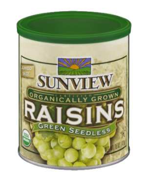 SUNVIEW ORGANIC GREEN RAISINS SEEDLESS