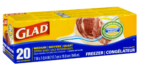 GLAD - FREEZER ZIPPER BAG