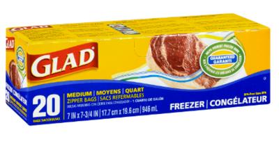 GLAD - FREEZER ZIPPER BAG
