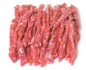 USDA GRAIN FED TENDERLOIN STRIPS - $4.50 PER 100 GMS
