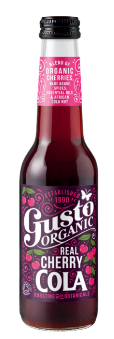 GUSTO ORGANIC REAL CHERRY COLA - $4.90 PER BOTTLE