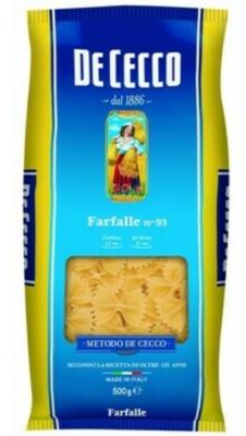 FARFALLE DECECCO - 500 GMS
