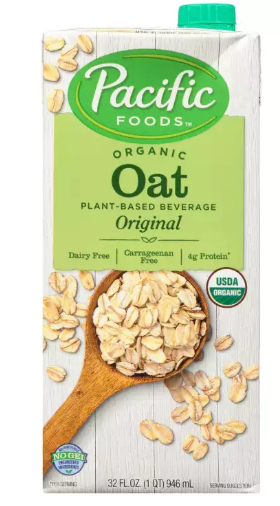 ORGANIC OAT BEVERAGE  - PACIFIC FOODS