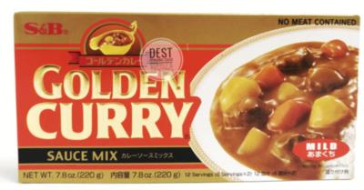 S&B GOLDEN CURRY MILD  - 220 GMS
