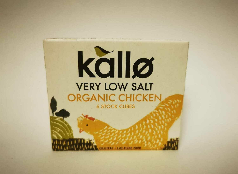 KALLO ORGANIC CHICKEN STOCK CUBES, VERY LOW SALT