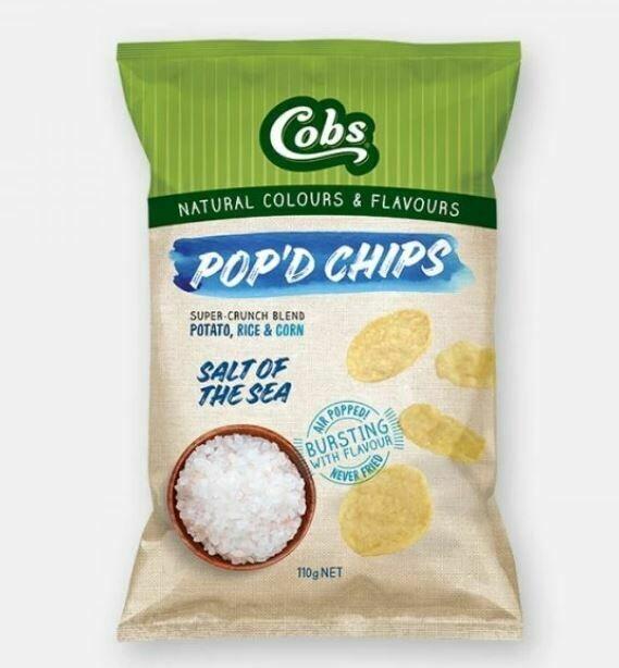 COBS POP'D CHIPS SALT OF THE SEA 110G