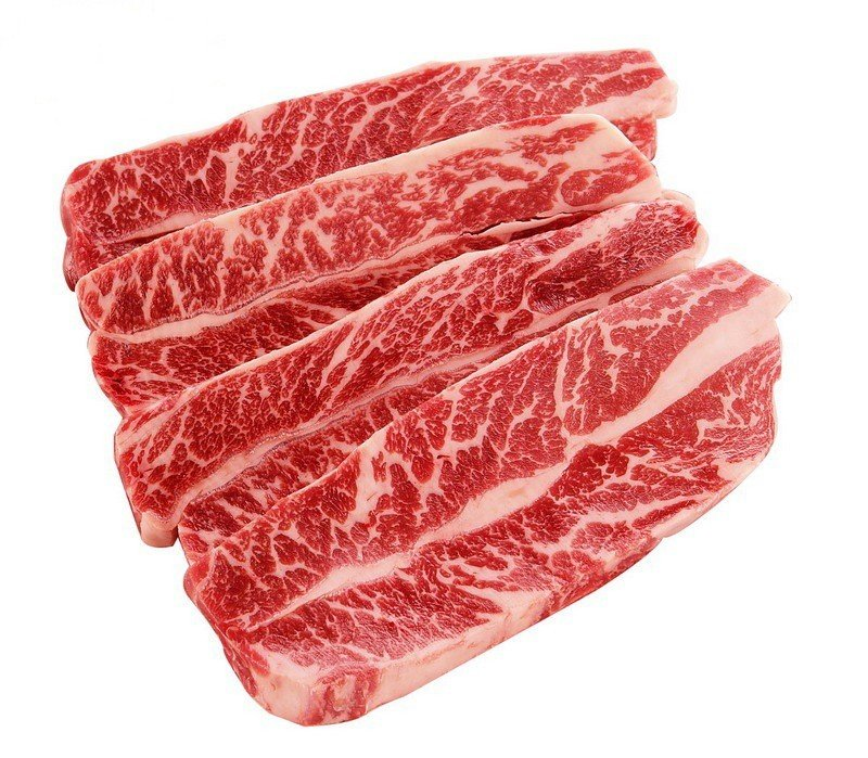USDA CHOICE GRADE BONELESS SHORT RIBS  - USA- $5.60 PER 100 GMS