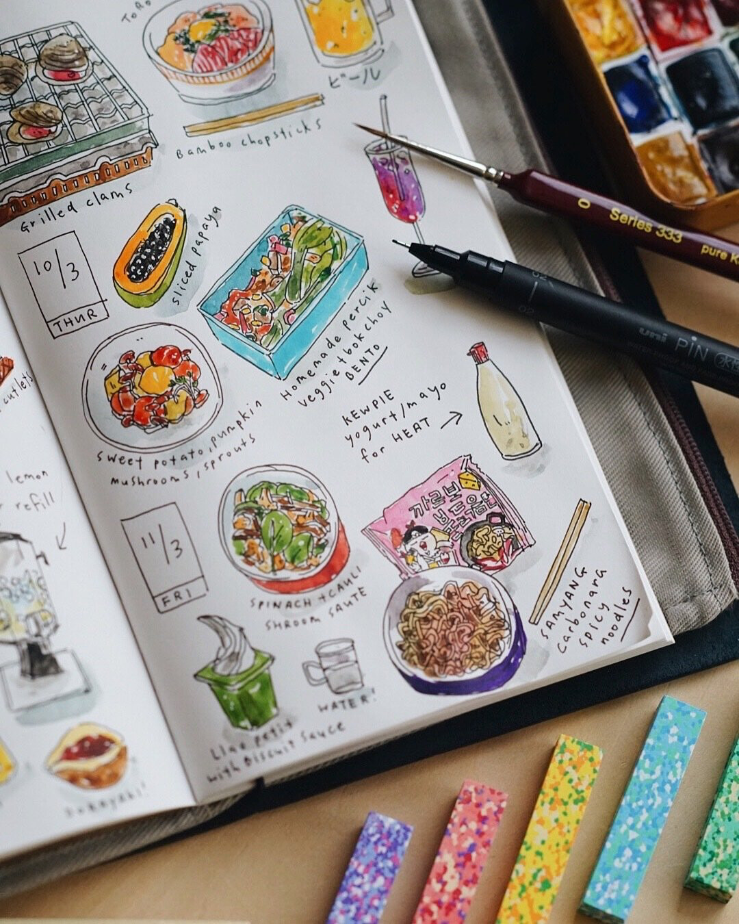 Doodle Journaling with Watercolor / 17 October